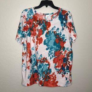 East 5th Short Sleeve T-shirt Top Floral Print